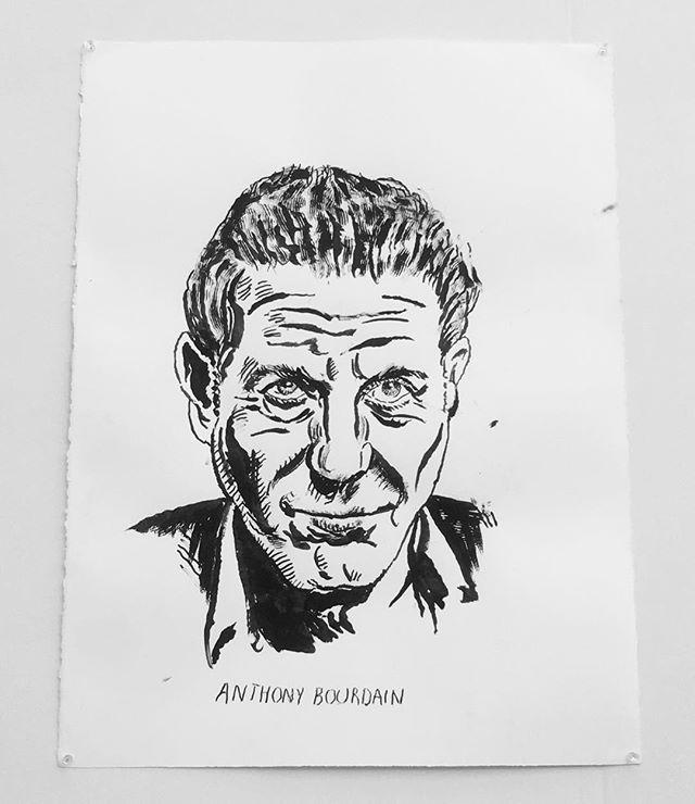Anthony Bourdain by Raymond Pettibon 🙌 #RaymondPettibon
