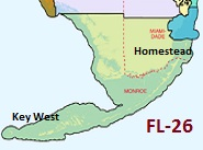 Map of Florida's 26th Congressional District