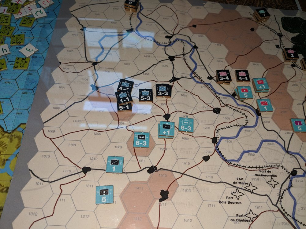 Northern sector of Verdun, playtest kit shown above