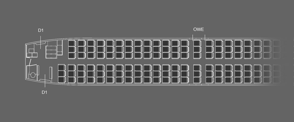 B737-800 Full Economy Layout