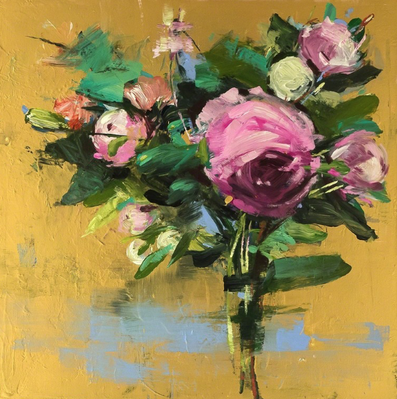 Oct 15 - 21 - Monday 9am (peaceful ashtanga) Yogala StudiosWednesday 4pm (yin + restorative) Yogala StudiosThursday 8:30am Liberation YogaSunday 8:30am Liberation YogaArt :: Carmelo Blandino, Pink Bouquet on Gold, 2014