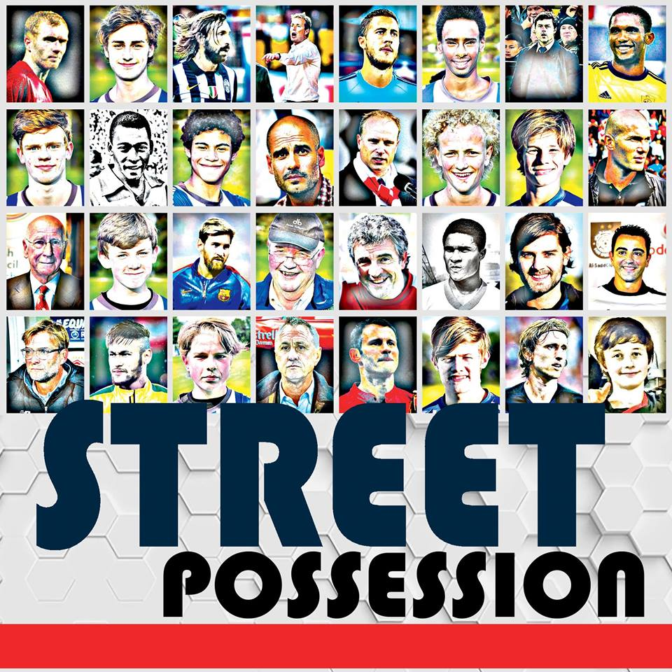 Omslaget til bogen Streetpossession er et bevis på forfatterens fodboldmæssige passion med stort hjerte for de unikke spiller- og trænerpersonligheder med glød i øjnene.