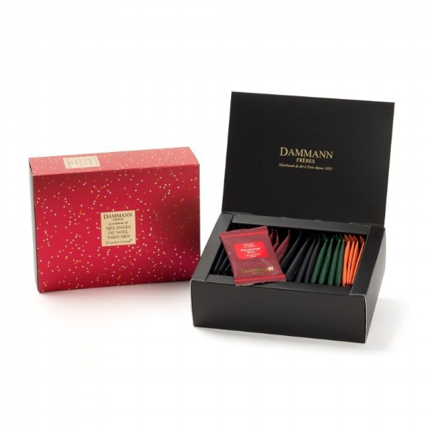 CHRISTMAS BLENDS - SET OF 20 ASSORTED SACHETS -  19,00€   Photo credit: dammann.fr