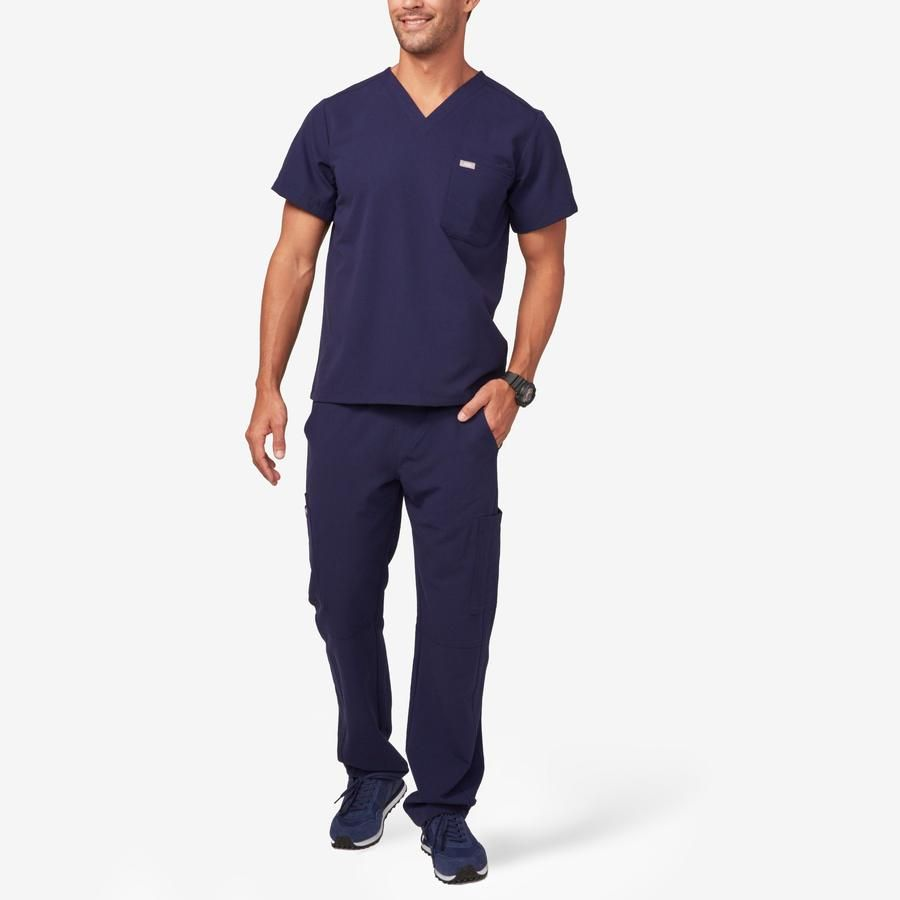 Leon two-pocket scrub top.  Starting from $38.00.  Photo credit: wearfigs.com