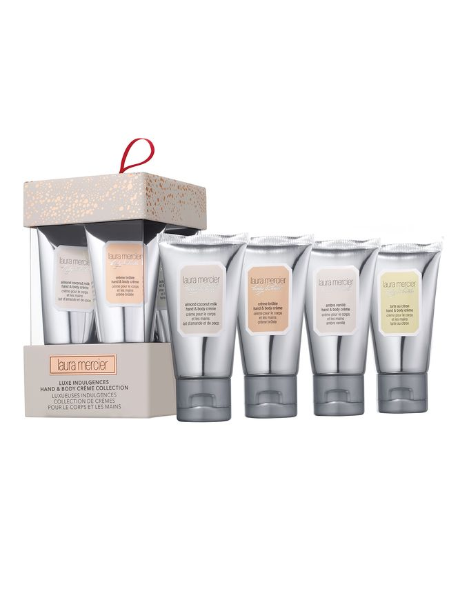 LAURA MERCIER  Luxe Indulgences Hand & Body Crème Collection (4 x 30ml) £27.00.  Photo Credit: Cultbeauty.com