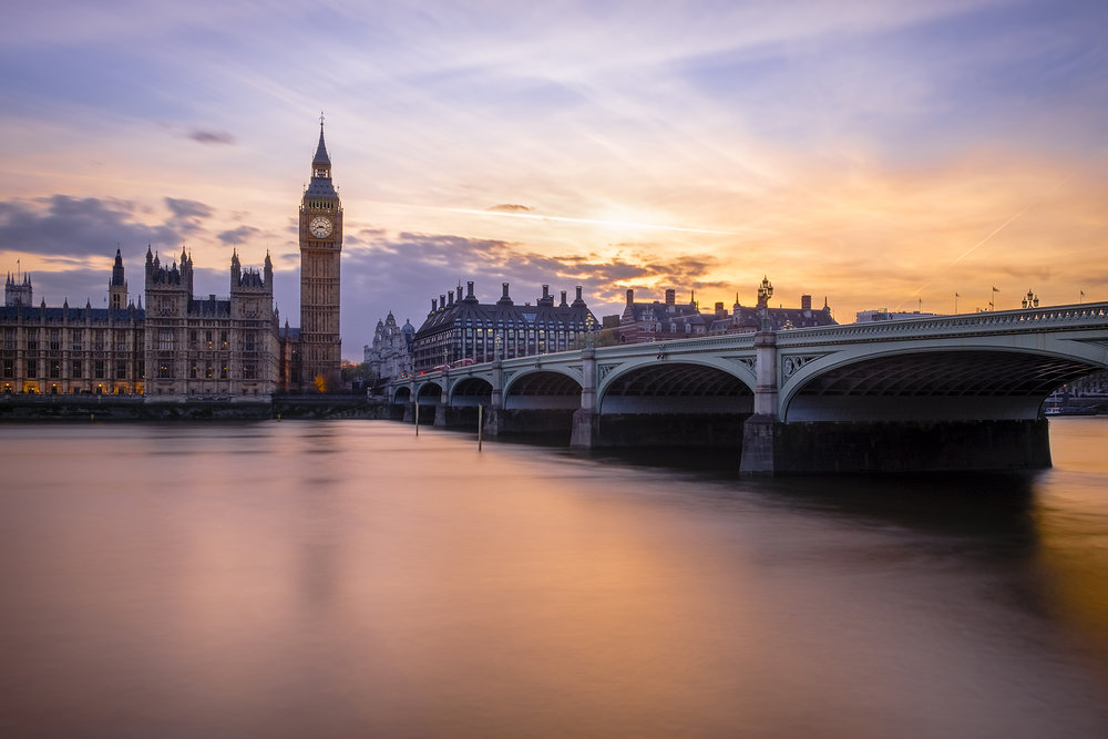 Photo of Westminster Bridge and Big Ben at sunset taken by Trevor Sherwin