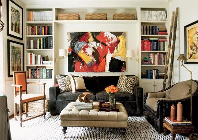 A living room with flexible seating.