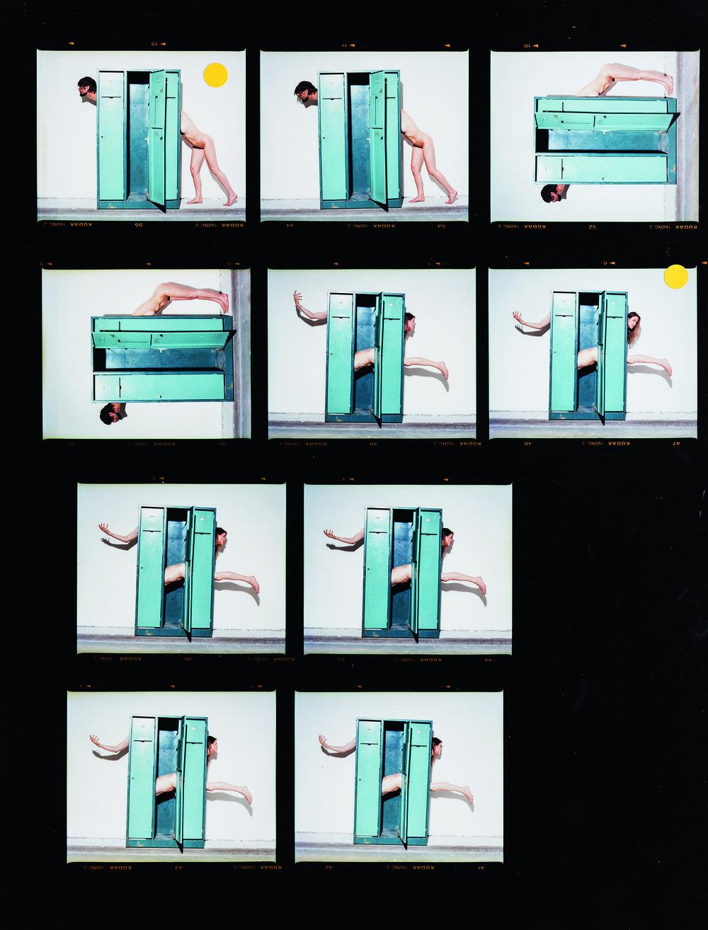 Body Cabinet 1 (contact sheet 1) , C-type print, 2009