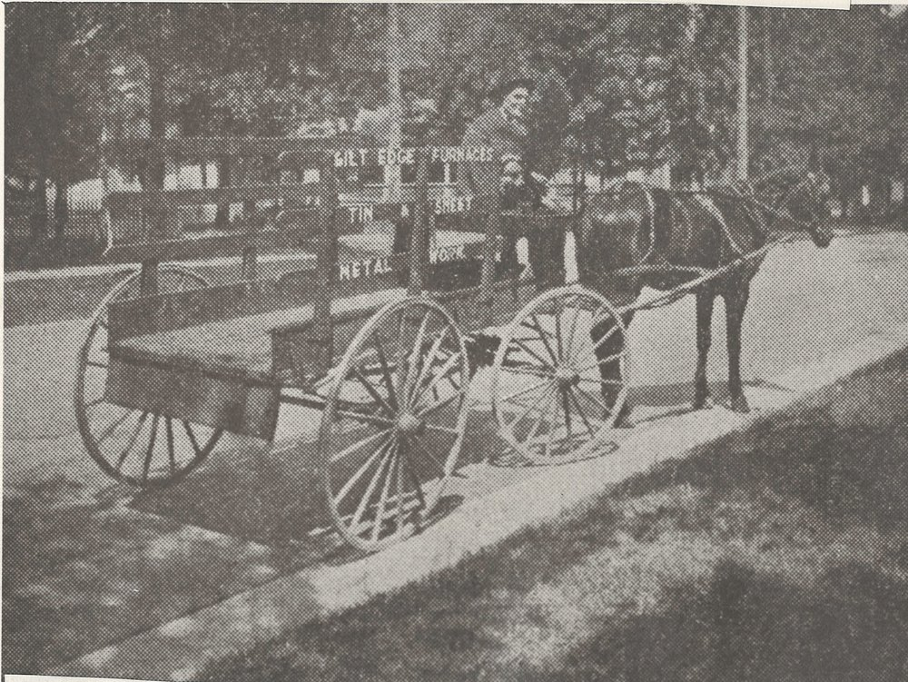 Horse Drawn Furnace Delivery Carriage
