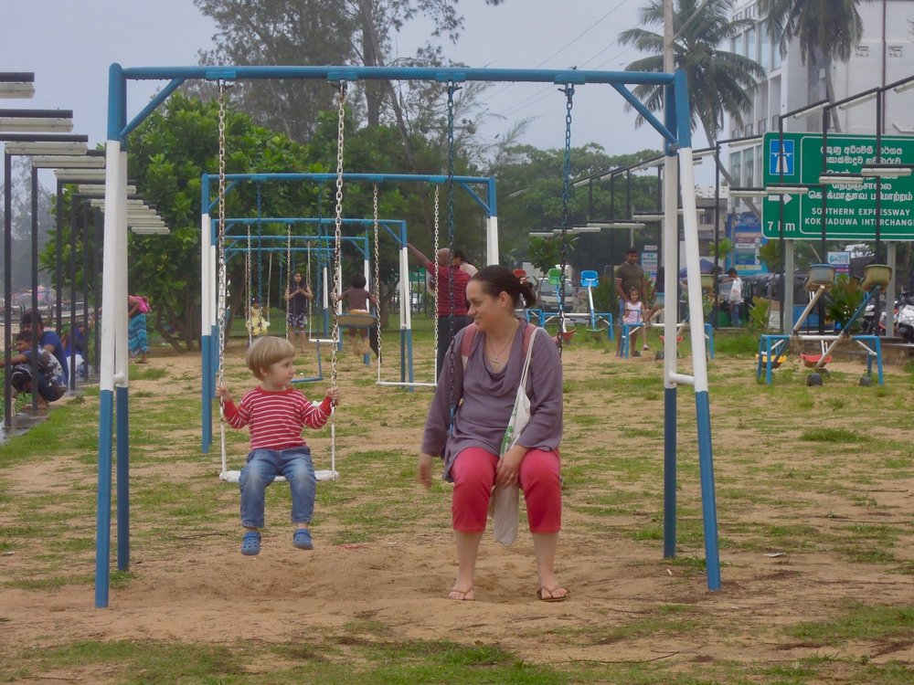 Playground-time in Weligama, Sri Lanka. Photo © András Vasas