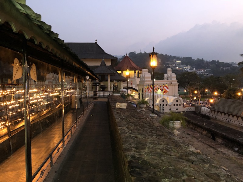 One of my favourite pictures. Evening at the Temple of the Sacred Tooth Relic in Kandy. Photo © Szilvia Molnár