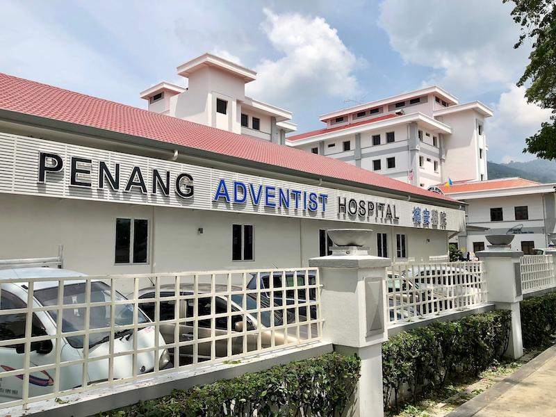 The Penang Adventist Hospital on Jalan Burma