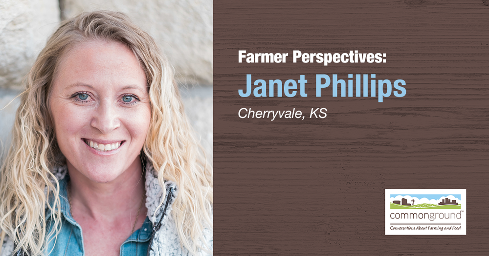 Janet Phillips CommonGround Kansas Farmer Volunteer