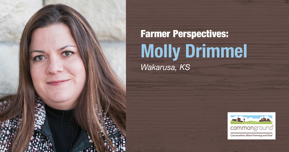 Molly Drimmel CommonGround Kansas Farmer Volunteer