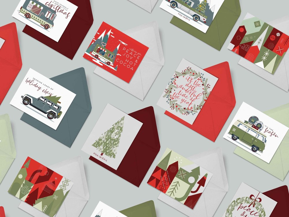 WISHING YOU A NOSTALGIC HOLIDAY - FULL OF FAMILY AND BEAUTIFUL STATIONERY