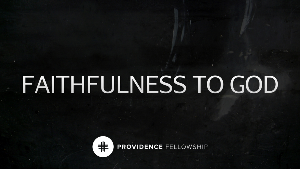 Faithfulness to God - Genesis 24:1–9Chad Cronin