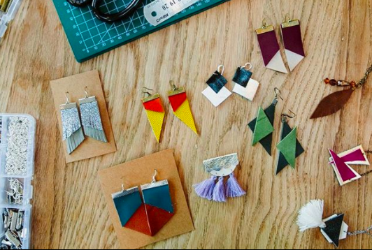 A overview on how to make beautiful leather jewellery in just 9 mins!    https://www.jennykate.co.uk/journal/how-to-make-leather-earrings