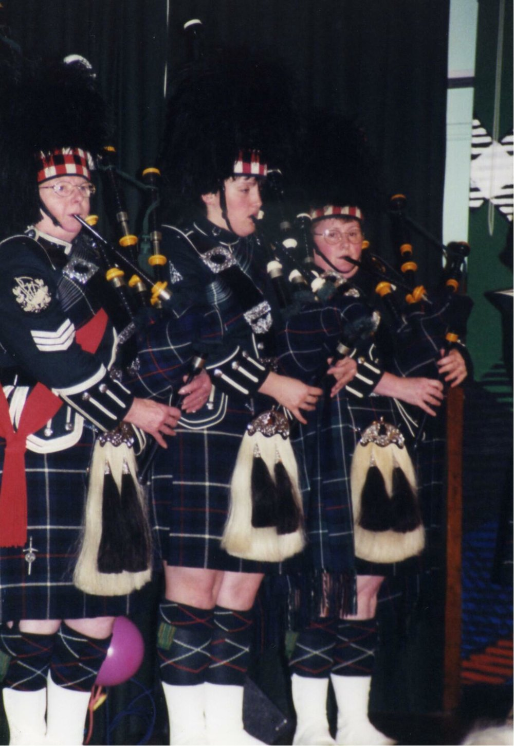 - Members of the Wick Pipers Band
