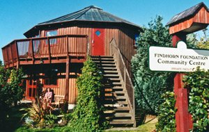 Findhorn Foundation whisky barrel Community Center