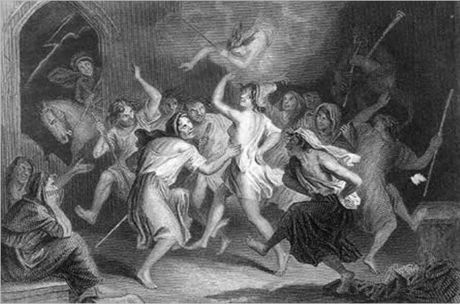 The Devil pipes as Tam O'Shanter ogles Cutty Sark