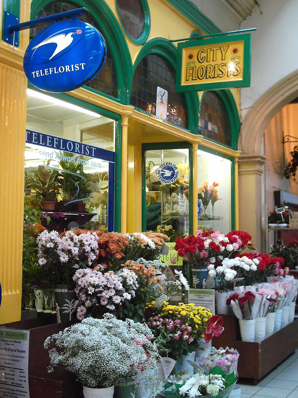 Inverness Victorian Market flower seller