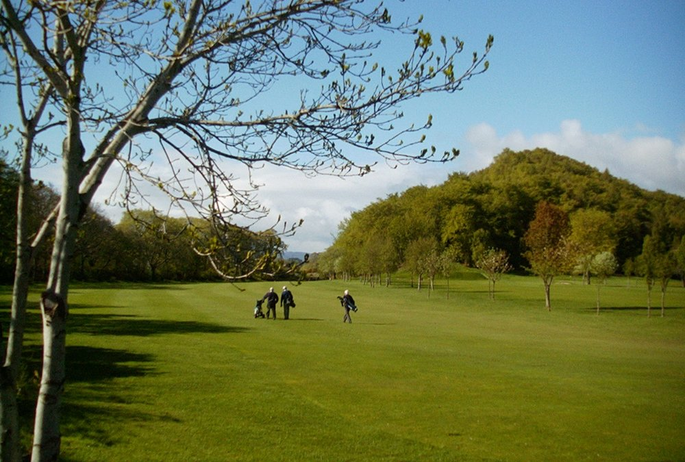 Golfing on the public links in Inverness