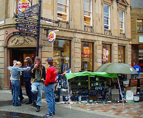 Jewelry sellers in Inverness Pedestrian Zone