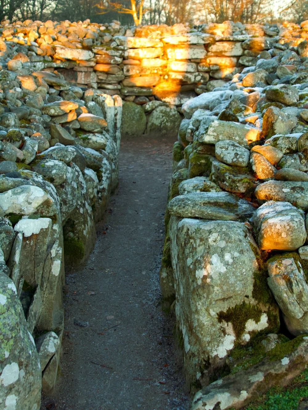 Clava Cairns at Dawn of the Midwinter Solstice
