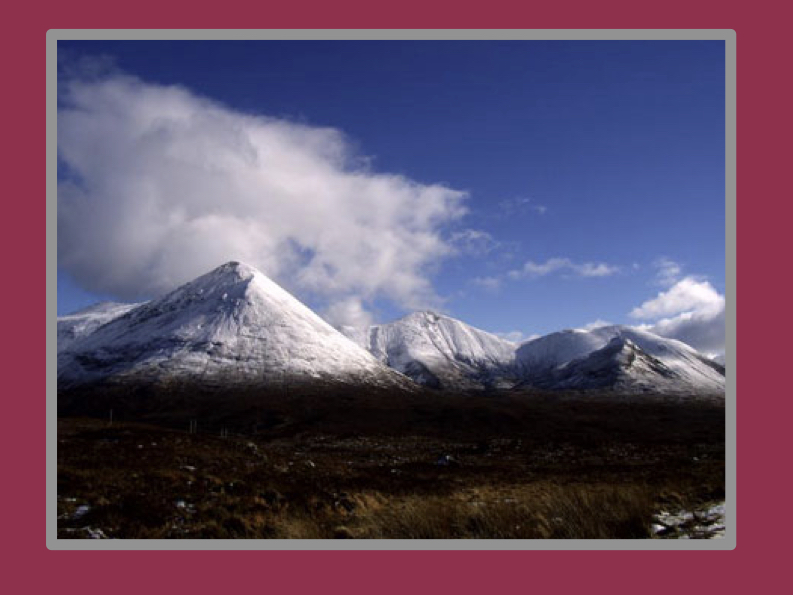 Snow-capped Highland mountains