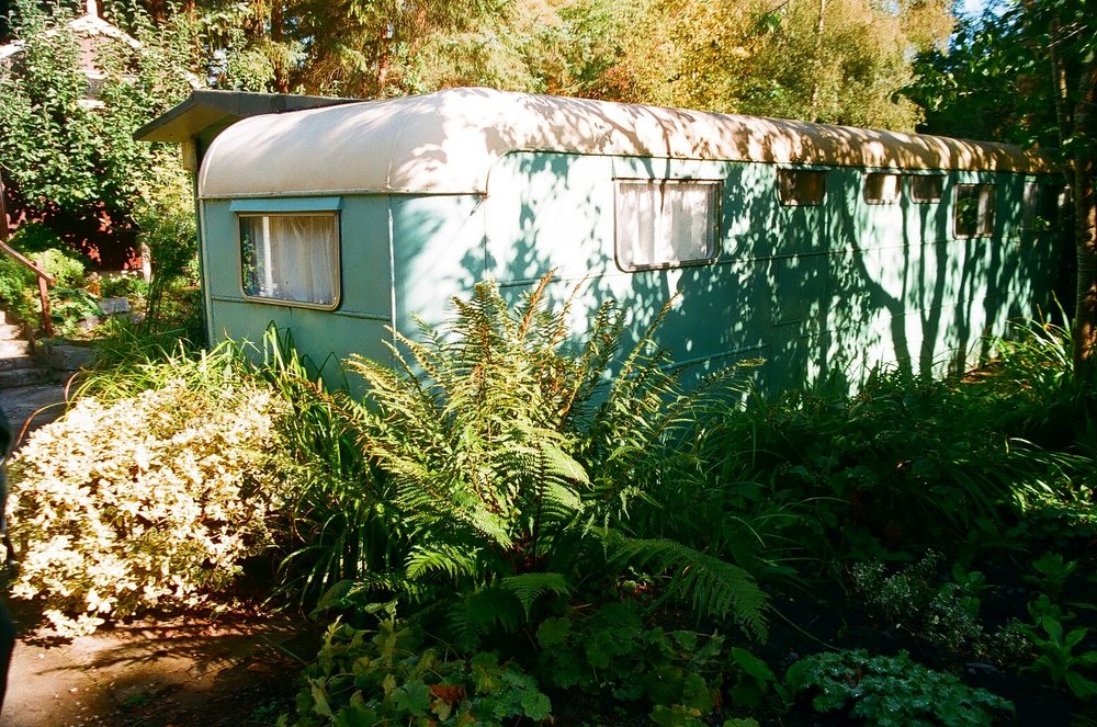 Eileen Caddy's Original caravan - an eco relic now, visited by thousands of eco pilgrims each year