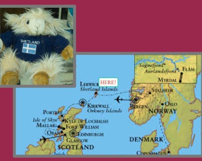 Where is Shetland? map