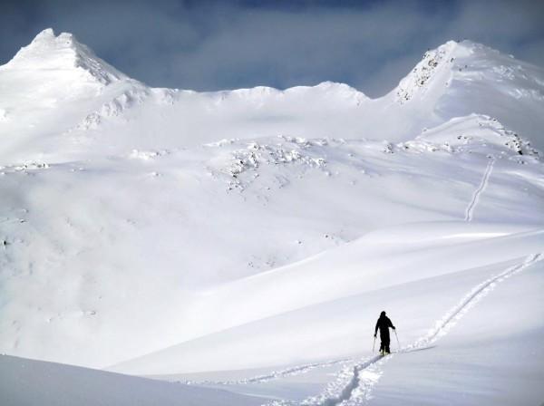 Nick Langowski on Ragged Top Mountain in Girdwood, Alaska