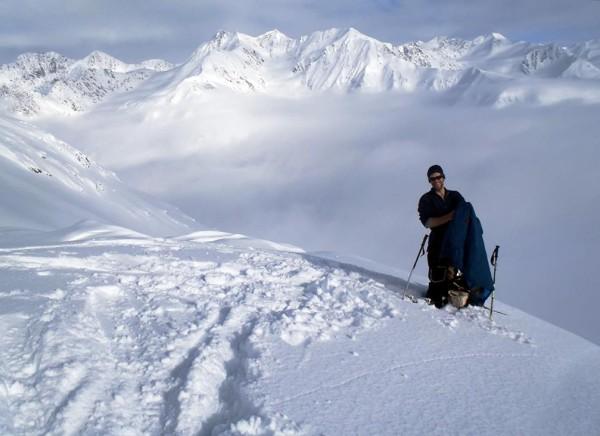 Nick Langowski in the Chugach Mountains of Alaska.