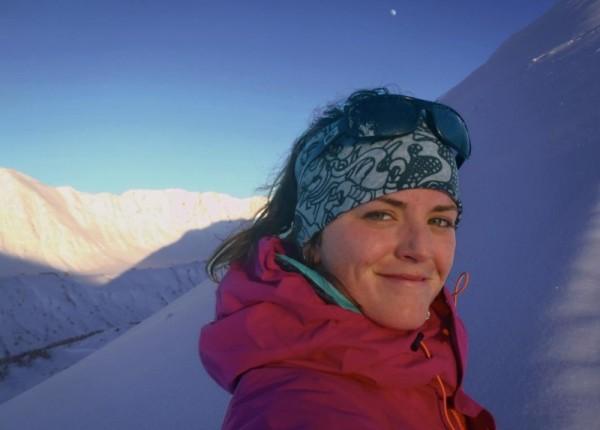 Me - Meg Smith on Turnagain Pass, Alaska