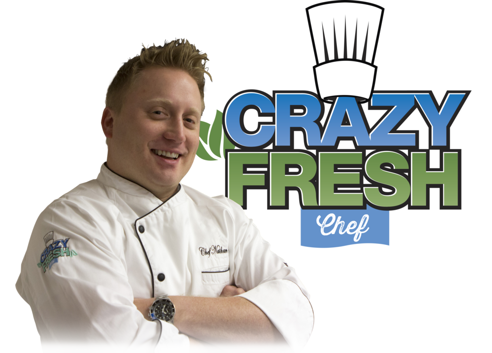 Chef Nate - Hello! I'm the Crazy Fresh Chef Nathan Rocap. My mission is to bring fresh ideas and creative insight to the produce aisle. As the Crazy Fresh Chef, I strive to continuously develop signature produce recipes that make healthy eating at home fun and easy.Our Crazy Fresh demo team frequently visits our awesome grocer partners' stores and demonstrates my recipes and other Crazy Fresh products!Check back often for new recipes and updates!