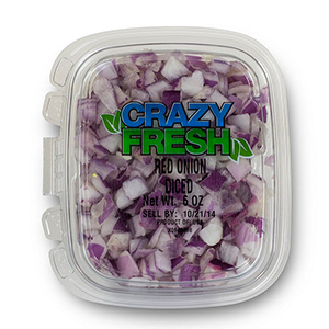 DICED RED ONION - 6 OZ. — 82210