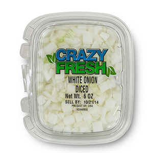 WHITE ONION DICED - 6 OZ. — 82230