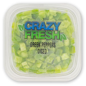 DICED GREEN PEPPERS - 6 OZ. — 82610