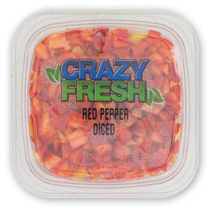 DICED RED PEPPERS - 6 OZ. — 82612