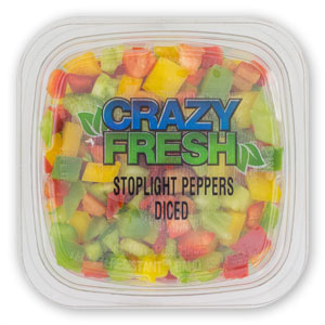 STOPLIGHT PEPPERS DICED - 6 OZ. — 82641