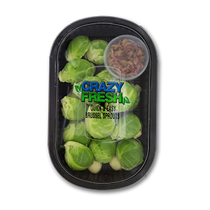 BRUSSEL SPROUTS WITH BACON - 16 OZ. — 81308