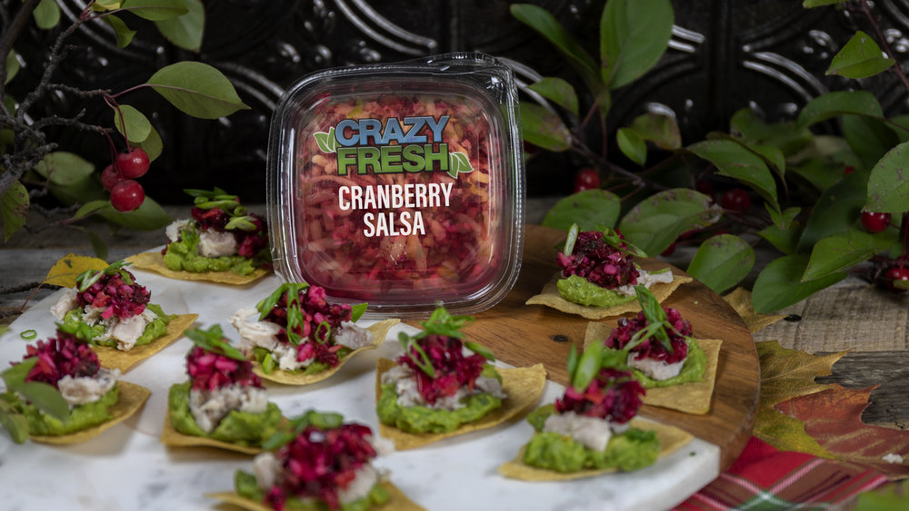 Mini Tostadas with Cranberry Salsa