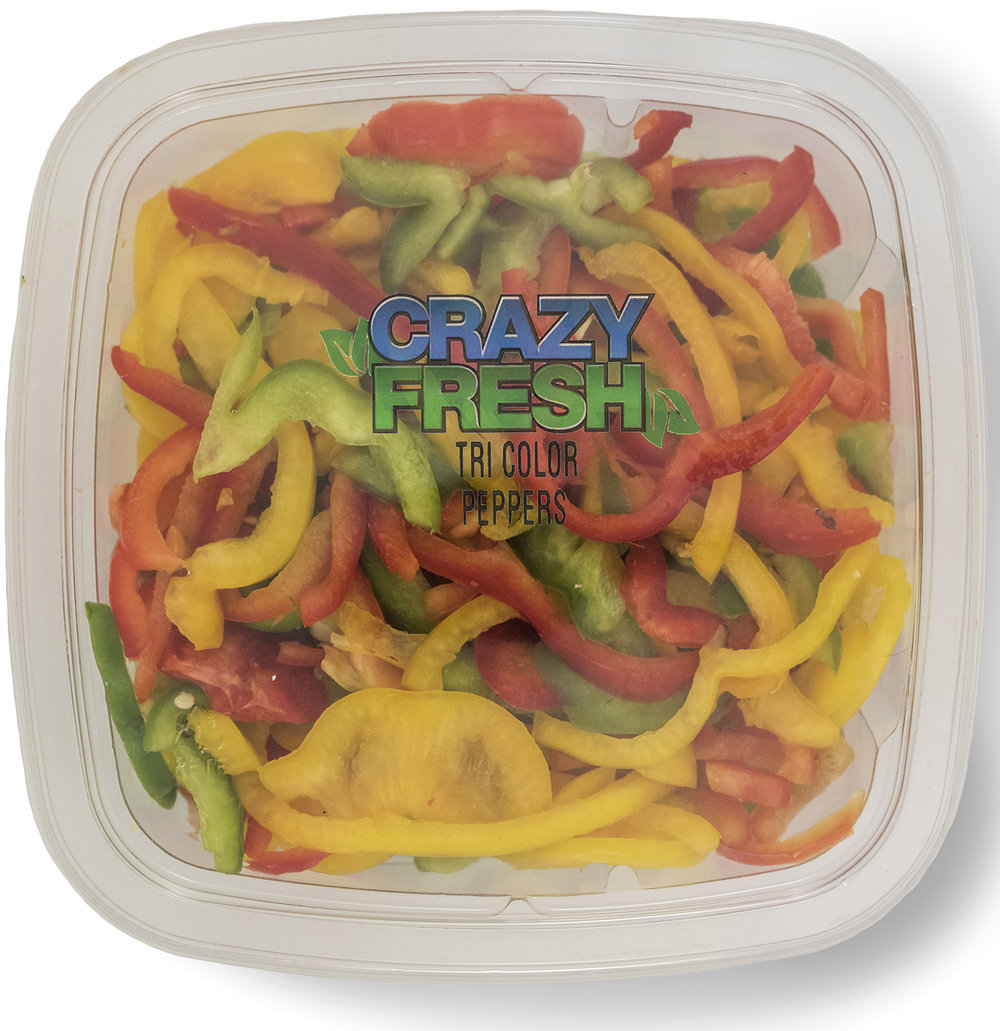 TRI COLOR PEPPERS - 12 OZ. — 81202