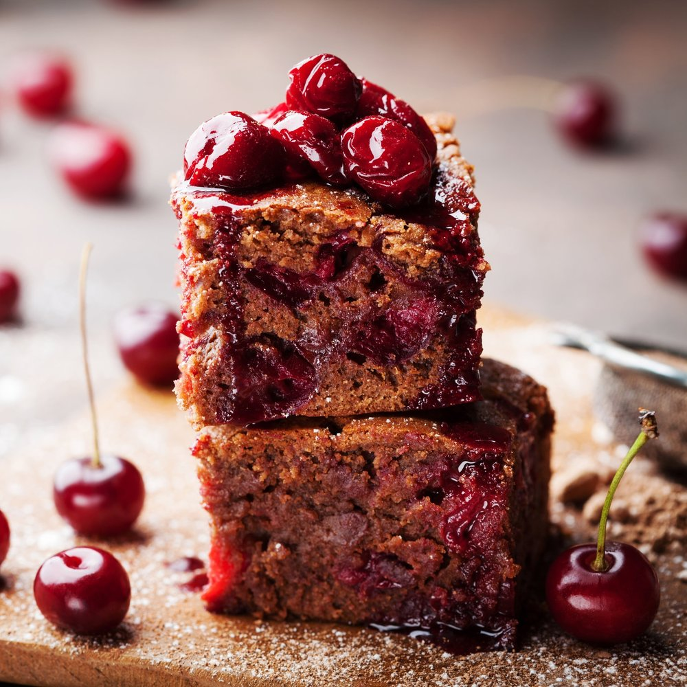 Brown Butter Cherry Bars -