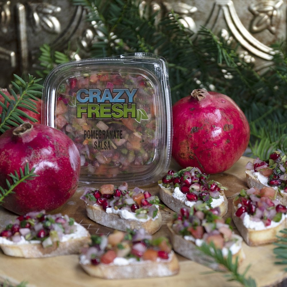 Pomegranate Salsa Bruschetta -