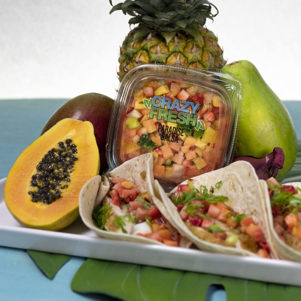 Fish Tacos with Paradise Salsa -