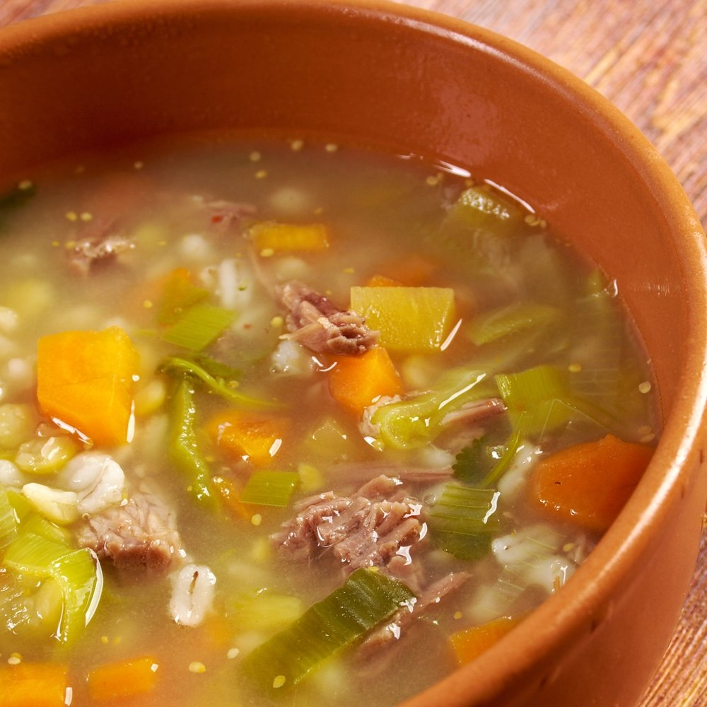 Beef & Barley Vegetable Soup -