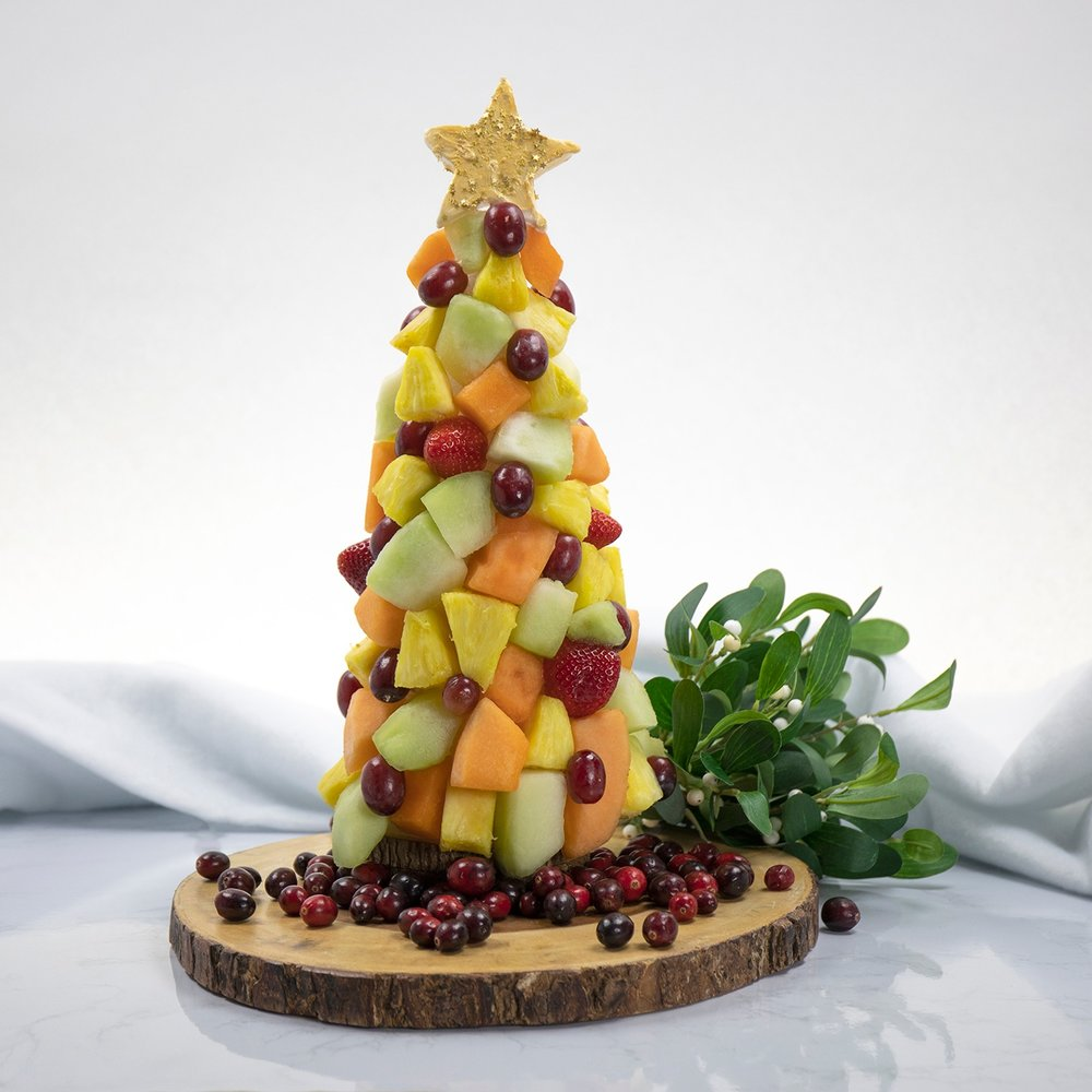 Holiday Fruit Tray Tree -
