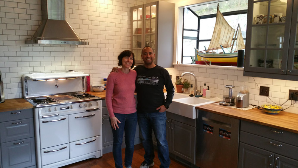 Happy customers in their new kitchen!