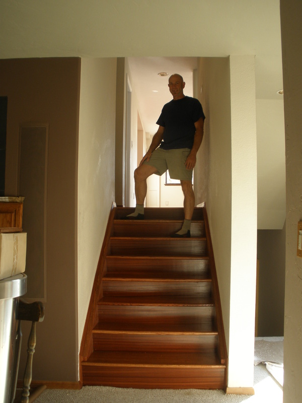 Add custom fitted oak stair treads.